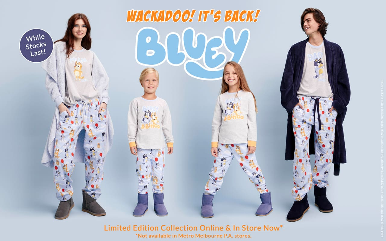 Wackadoo! It's Back! While Stocks Last. Limited Edition Collection Online & In Store Now* *Not available in Metro Melbourne P.A. stores.