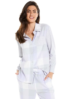 Lilac Buffalo Check Flannel Pj Set