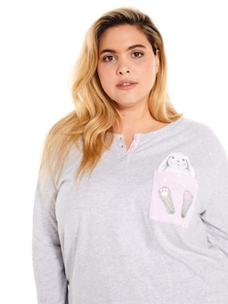 P.A. Plus Pocket Bunny Long Sleeve Top