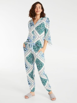 Garden Tile Tapered Pj Pant