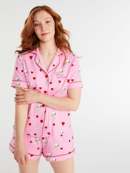 Snoopy Heart Shortie Pj Set