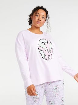P.A. Plus Hugging Sloth Long Sleeve Top
