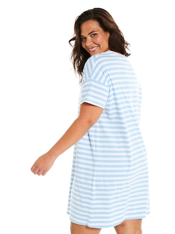 P.A. Plus Bold Stripe Sleep Tee