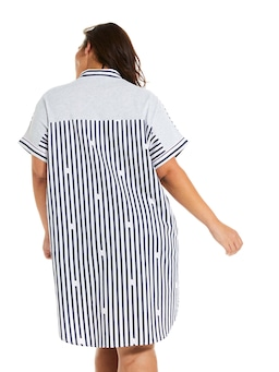 P.A. Plus Navy Stripe Boyfriend Nightshirt