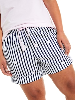 P.A. Plus Navy Stripe Boyshort