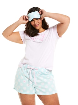 P.A. Plus Spots Short With Eye Mask Bedtime Set