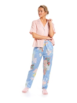 Patches Roll Up 3/4 Pj Pant