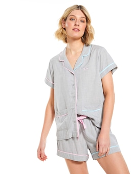 Piped Viscose Shortie Pj Set
