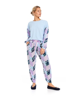 Floral Patches Tapered Pj Pant