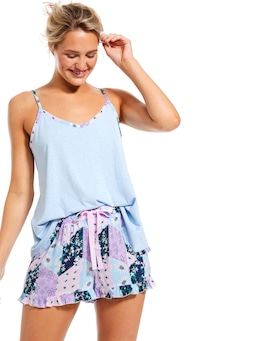 Floral Patches Frill Short