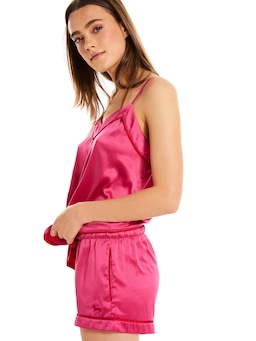 Festive Pink Tux Luxe Mid Short