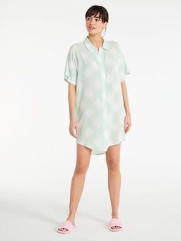 Gingham Boyfriend Nightshirt