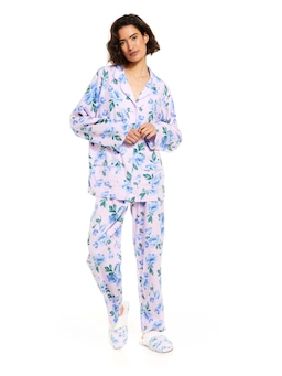 Pretty Poppies Bamboo Flannelette Pj Set