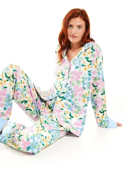 Field Of Florals Bamboo Flannelette Pj Set