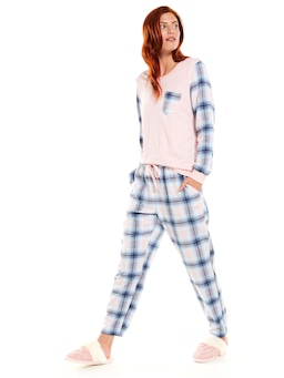 Winter Tartan Flannelette Tapered Pj Pant