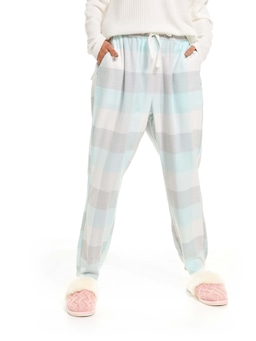 Mint Buffalo Check Tapered Pj Pant