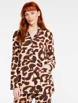Leopard Plush Long Pj Set