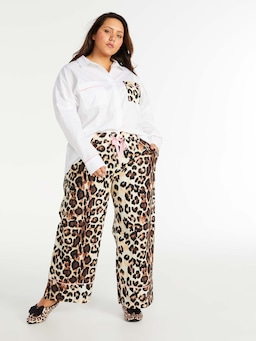 P.A. Plus Leopard Pocket Long Sleeve Shirt