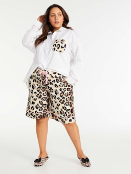 P.A. Plus Leopard Long Short