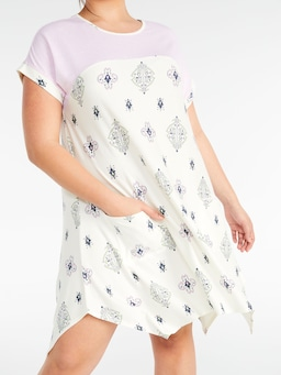 P.A. Plus Mosaic Print Hanky Hem Nightie