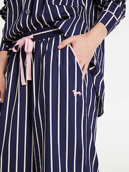 Navy Stripe Wide Leg Pj Pant