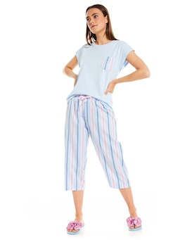 Pretty Stripe 3/4 Pj Pant