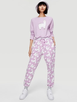 Cartoon Roll Up Pj Pant