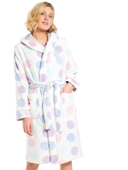 Pastel Spot Hooded Cuddle Gown