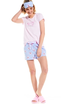Floral Short With Eye Mask Bedtime Set