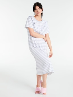 Stripe Frill Sleep Tee