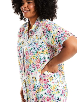P.A. Plus Ditsy Floral Short Sleeve Shirt