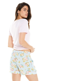 Mint Floral Long Short