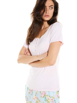 Pretty Pointelle Short Sleeve Top