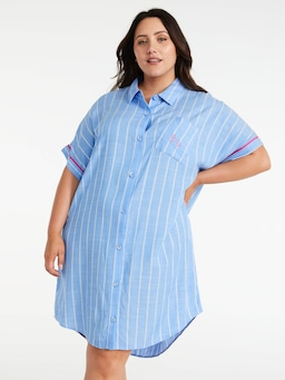 P.A. Plus Blue Stripe Boyfriend Nightshirt