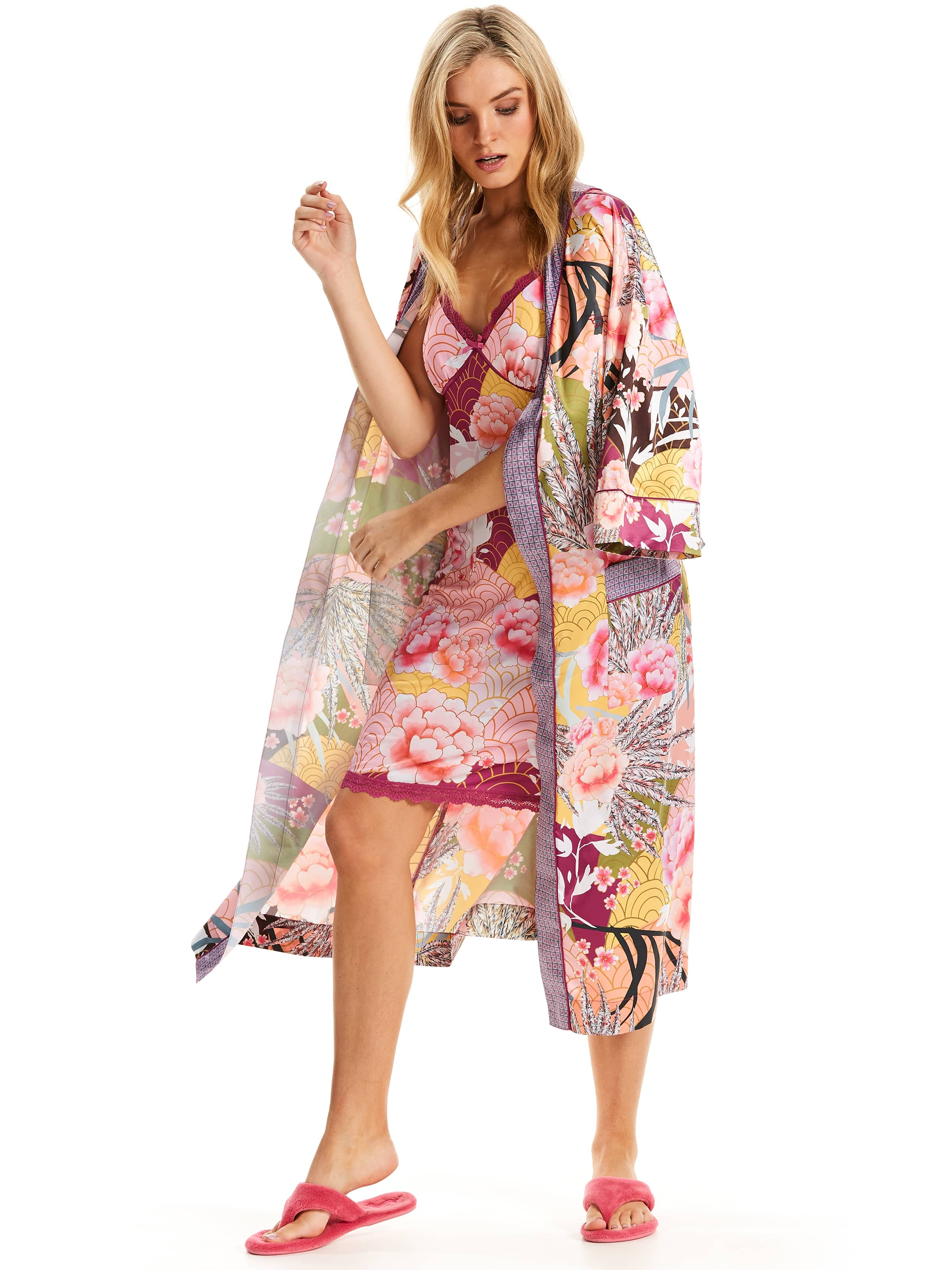 Blossom Kimono Gown - Peter Alexander Online
