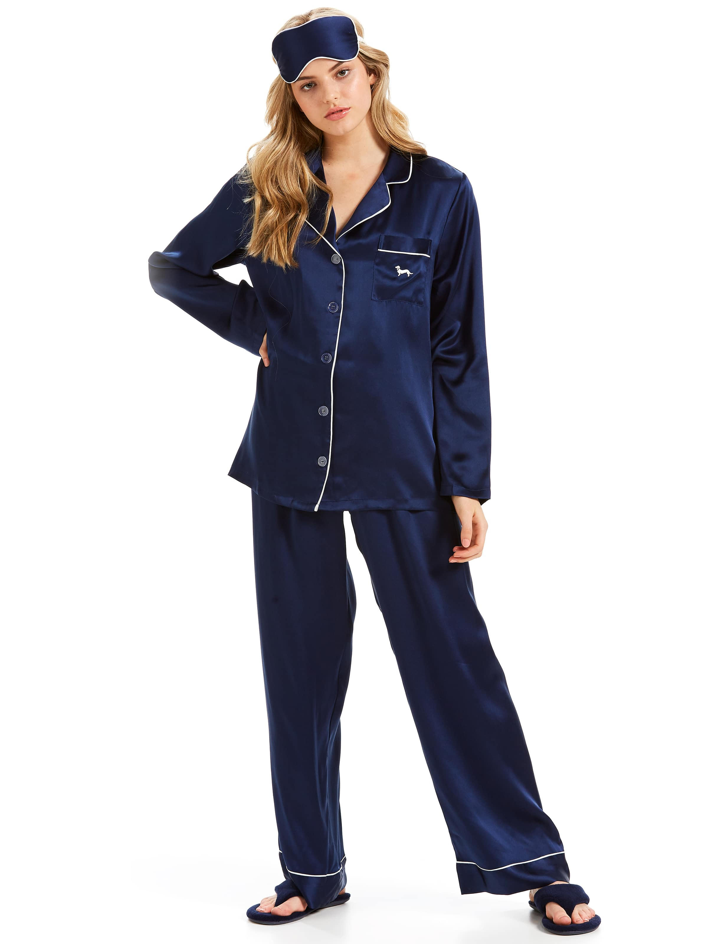 7d046c8501 Image for Luxe Silk Pj Set With Eyemask from Peter Alexander ...
