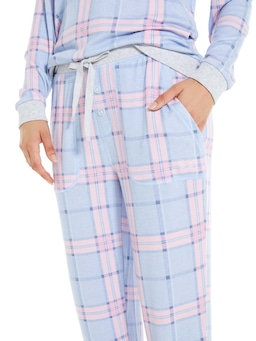 Pretty Check Fuzzy Pj Pant