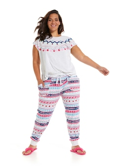 P.A. Plus Soft Fair Isle Easy Pj Pant