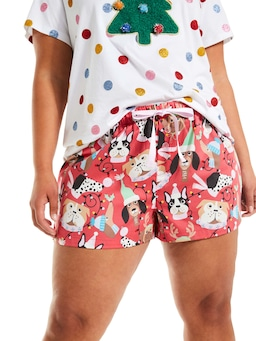 P.A. Plus Christmas Dogs Mid Short