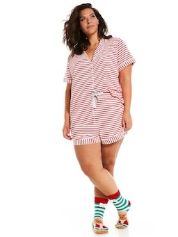 P.A. Plus Oh What Fun Red Stripe Pj  Set