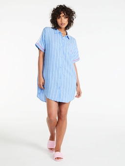 Blue Stripe Boyfriend Nightshirt