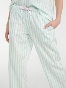 Mint Candy Stripe Classic Pj Pant