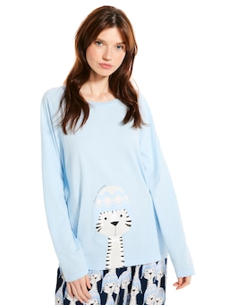 Cosy Tiger Long Sleeve Top