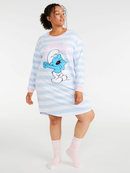 P.A. Plus Smurfs Lazy Smurf Long Sleeve Sleep Tee