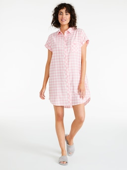 Pink Gingham Nightshirt