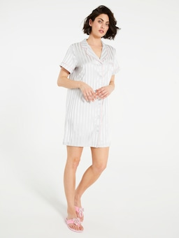 Silver Chic Satin Nightshirt