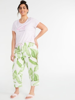P.A. Plus  Palm Leaf Ankle Pj Pant