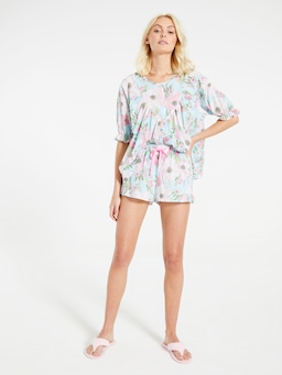 70'S Floral Ruffle Short