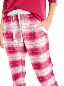 Strawberry Tartan Flannelette Drop Crotch Pj Pant