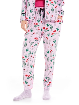 Botanical Floral Tapered Leg Pj Pant